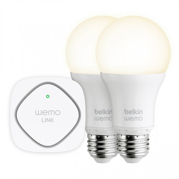 Belkin WeMo Lighting Starter Kit   light up your home without ever touching a switch