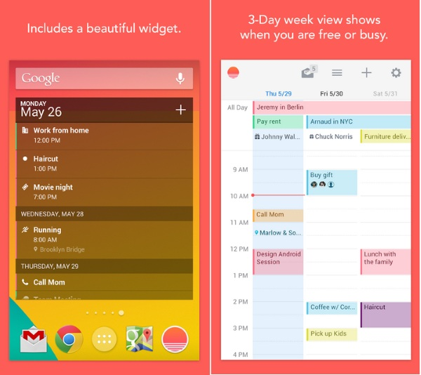 Sunrise – the simple calendars for simple lives [FREEWARE]
