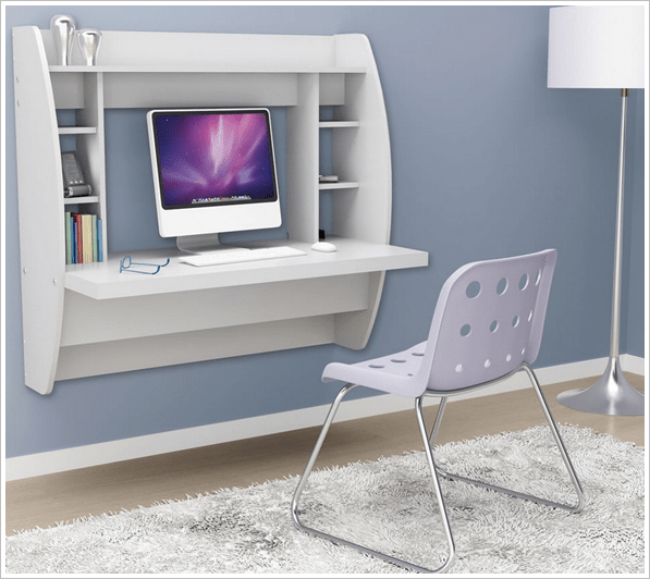 Wall Mounted Desk – recreate the joy of your cubicle at home and save space too
