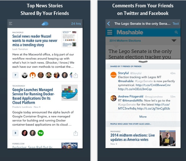 Nuzzle – see what news your friends share without logging in [FREEWARE]