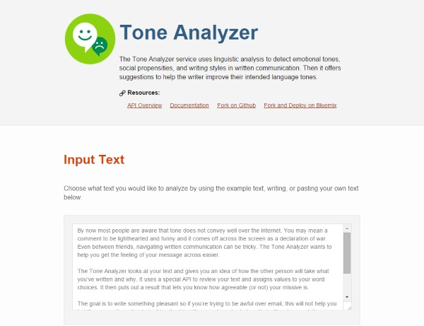 Tone Analyzer – make sure that email isn't accidently angry