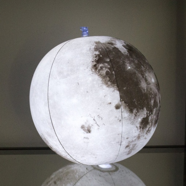 Inflatable Light-Up Moon Globe – bring the night sky inside