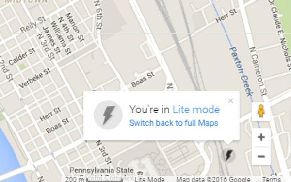 Google Maps Lite – same maps, less weight