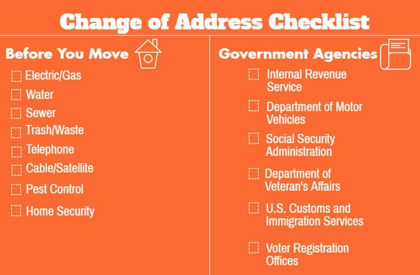 Change of Address Checklist Everyone You Should Contact When You - social security change of address