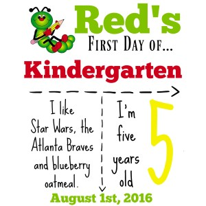 cool kindergarten sign download day how to make a back to school sign redhead baby mama