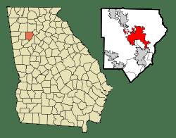 map of marietta GA in Cobb County