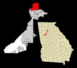 map of Milton GA in North Fulton County