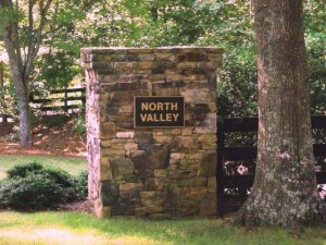 entrance to North Valley in Milton GA