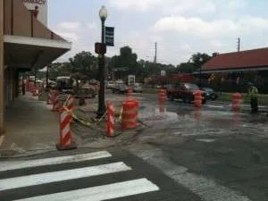 woodstock ga starts downtown streetscape improvement