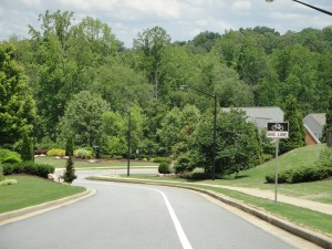 Woodstock GA tree lined streets in Woodlands
