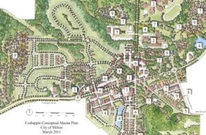 map of Crabapple Visioning Study for Milton GA