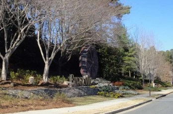 one of the entrances to Bridgemill in Canton GA
