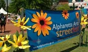 banner for alpharetta arts streetfest