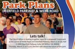 Milton pocket park planning meeting