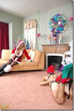 christmas elf blonde