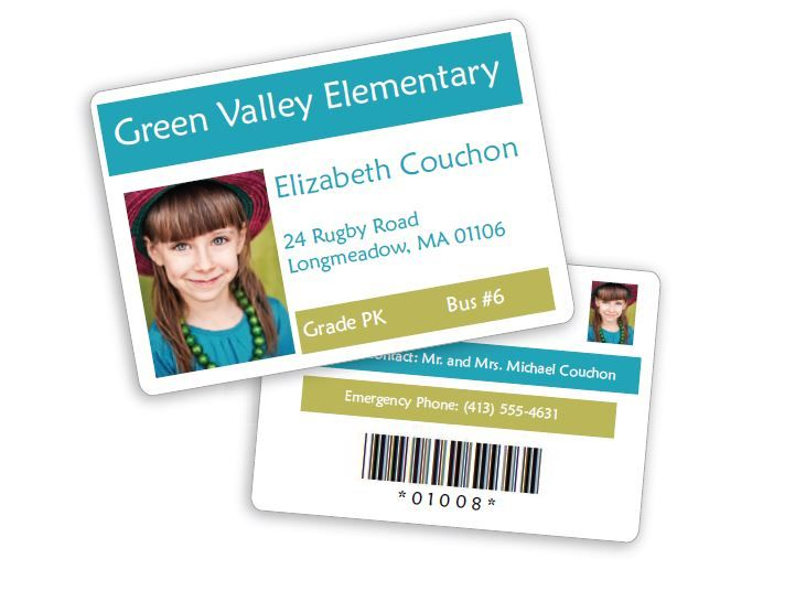 School photo ID cards software - student ID card software - School - student identification card