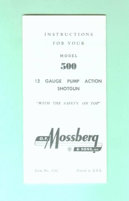 instruction manual mossberg 500