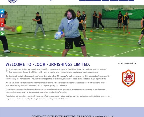 Screenshot of Floor Furnishings Website