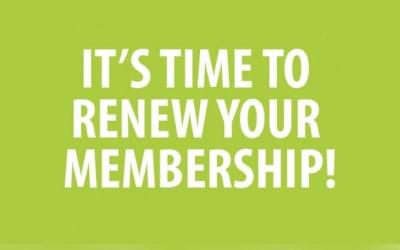 2016/17 Membership Renewals
