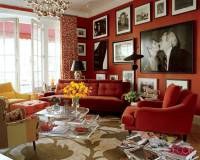 Living Rooms Goes With Red Walls | Home Decoration Club