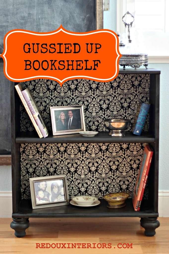 Bookshelf makeover redouxinteriors