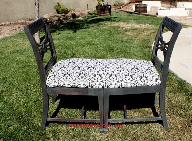 Chair Bench outside 1