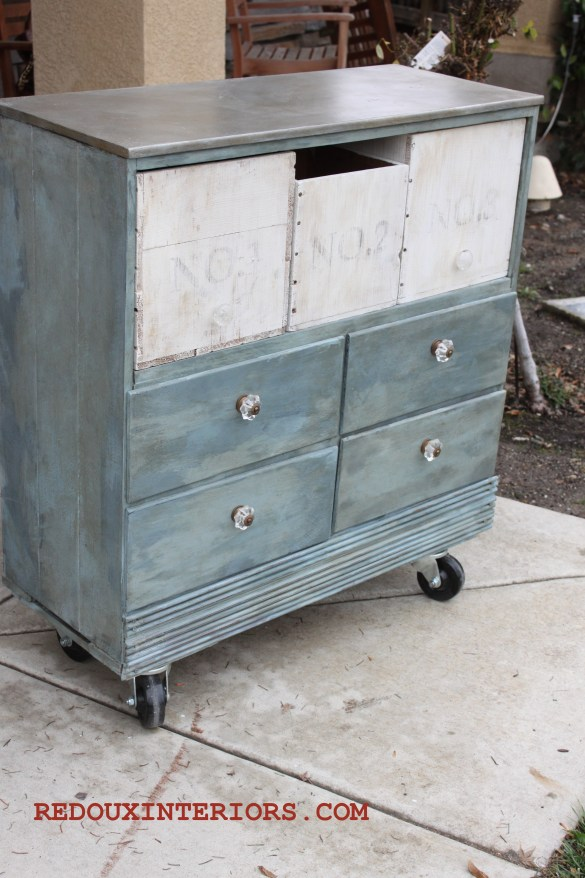 dresser without drawers and free crates aluminum faux top redouxinteriors.com