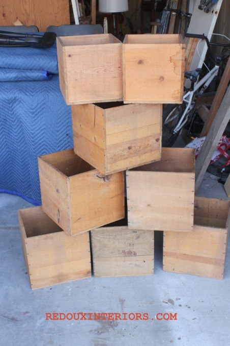 free crates found in dumpster redouxinteriors.com