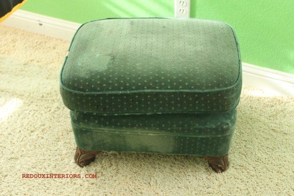 Green Ottoman Two Tiered
