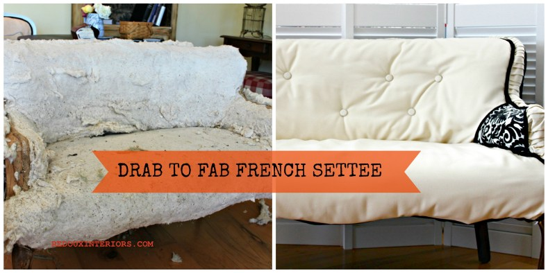 French settee before after banner redouxinteriors