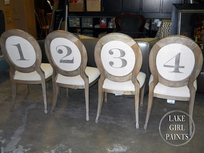 Pottery Barn Style Numbers on Chairs