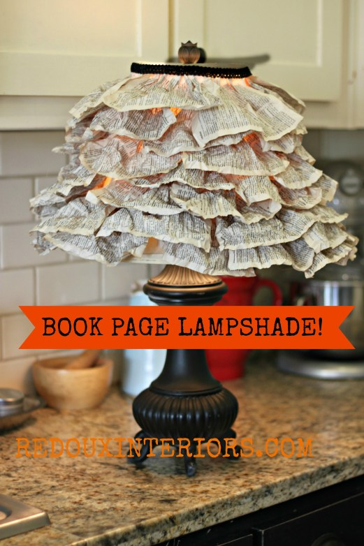 Book Page Lampshade Redouxinteriors