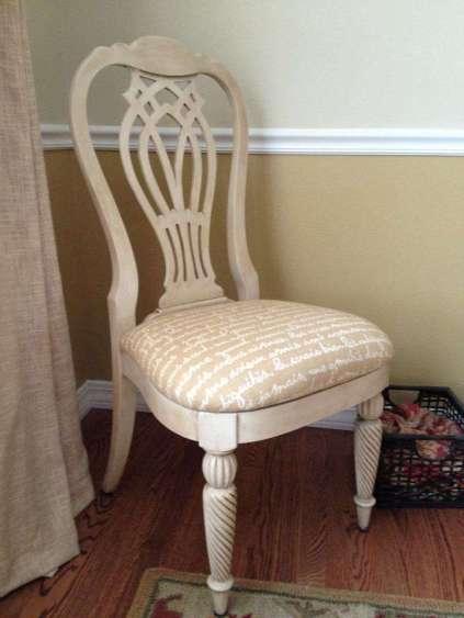 Cece Caldwells Vintage White Aging Wax Chair by Danielle Miller Partridge