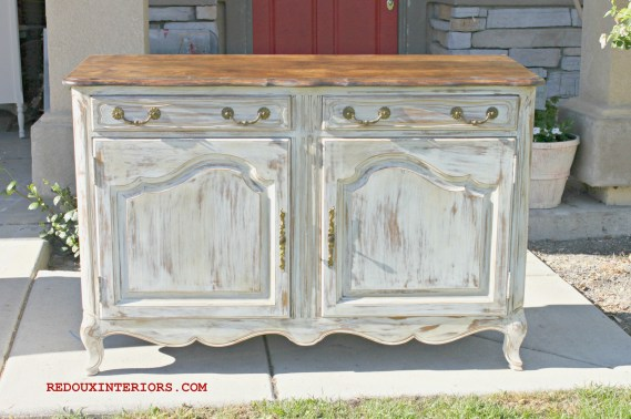 Maple Buffe CeCe Caldwells Vintage White Redoux Interiors