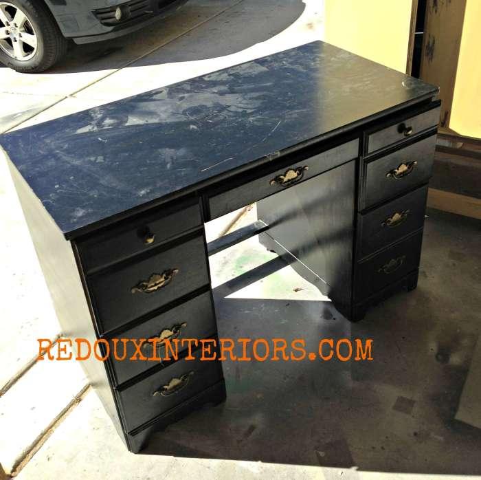 Black Student Desk before