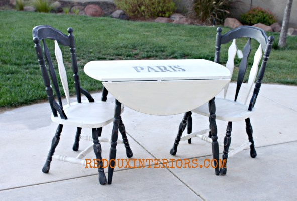 Black and White table chairs redouxinteriors