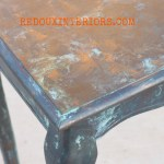 Copper Table top patina redouxinteriors