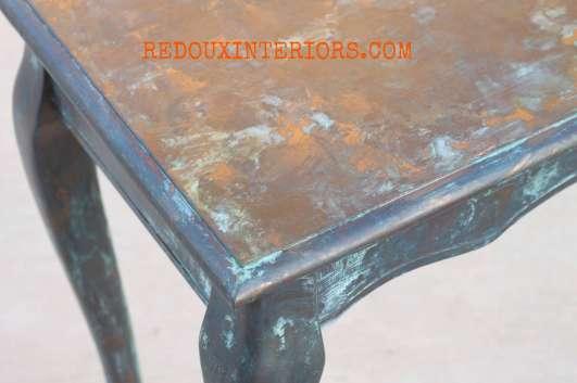 Copper Table top patina redouxinteriors
