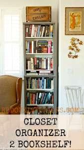Fake Built In Bookshelf from Closet Organizers