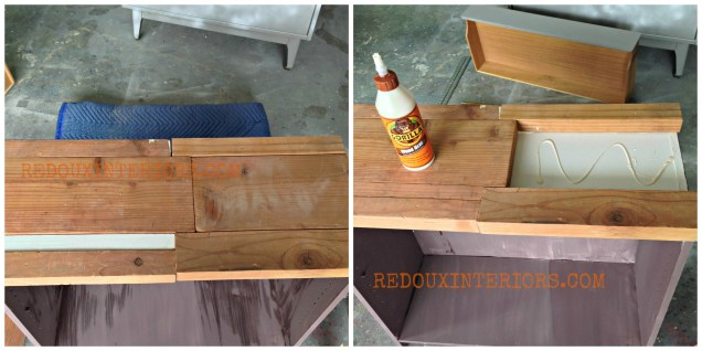 Scrap wood top assembly redouxinteriors