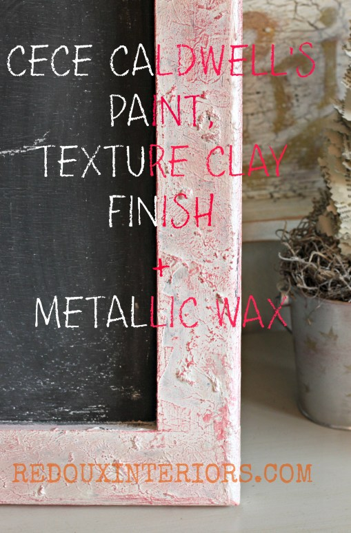 Textured Clay metallic wax words redouxinteriors