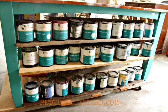 Paint organization Redouxinteriors