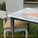 Farm Table with faux rusted top 3 redouxinteriors
