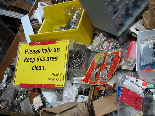 Keep this area clean