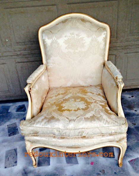 Dumpter Dove Gold Chair redouxinteriors