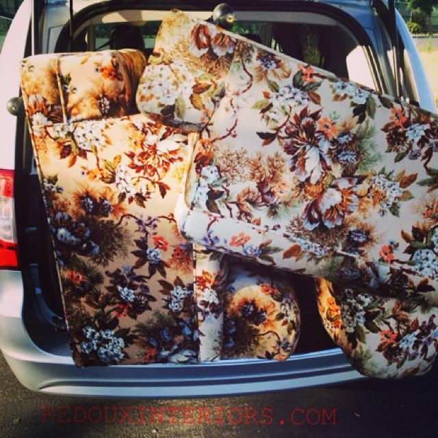 Curbside Couches squished into van redouxinteriors