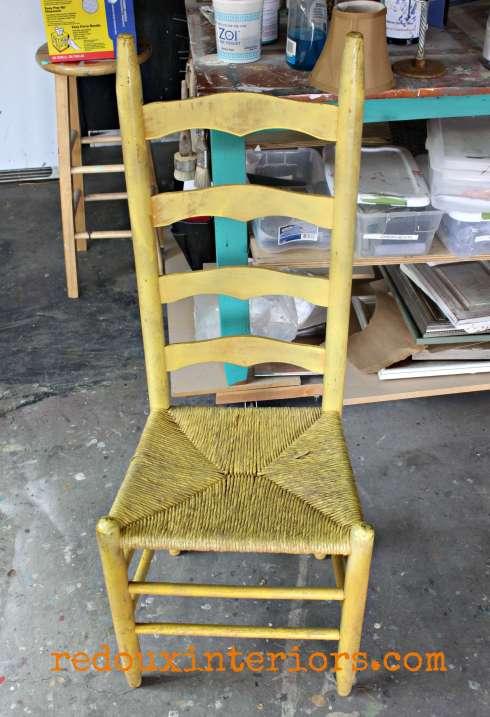 Yellow chair free redouxinteriors