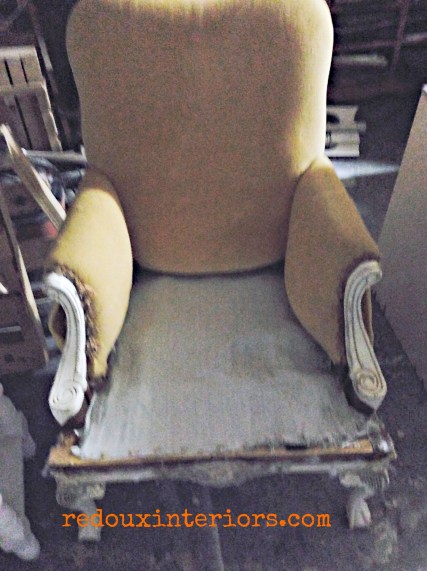 free chair with fabric removed redouxinteriors