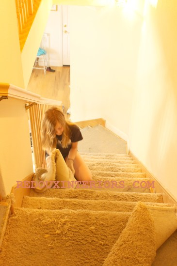 pullin up carpet on stairs redouxinteriors
