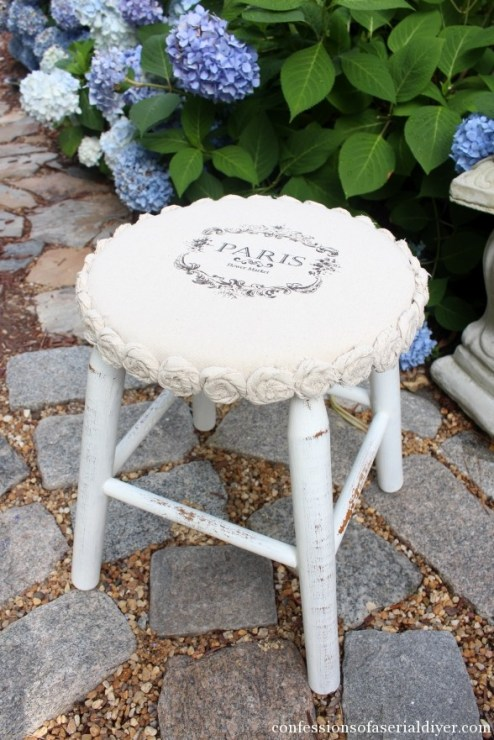 Dropcloth-Rosette-Trimmed-Stool-17